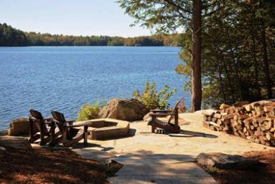 Landscaping for Muskoka Waterfront Cottage