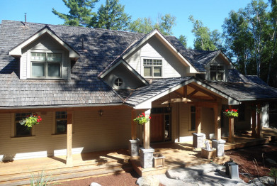 Muskoka cottage construction and landscaping