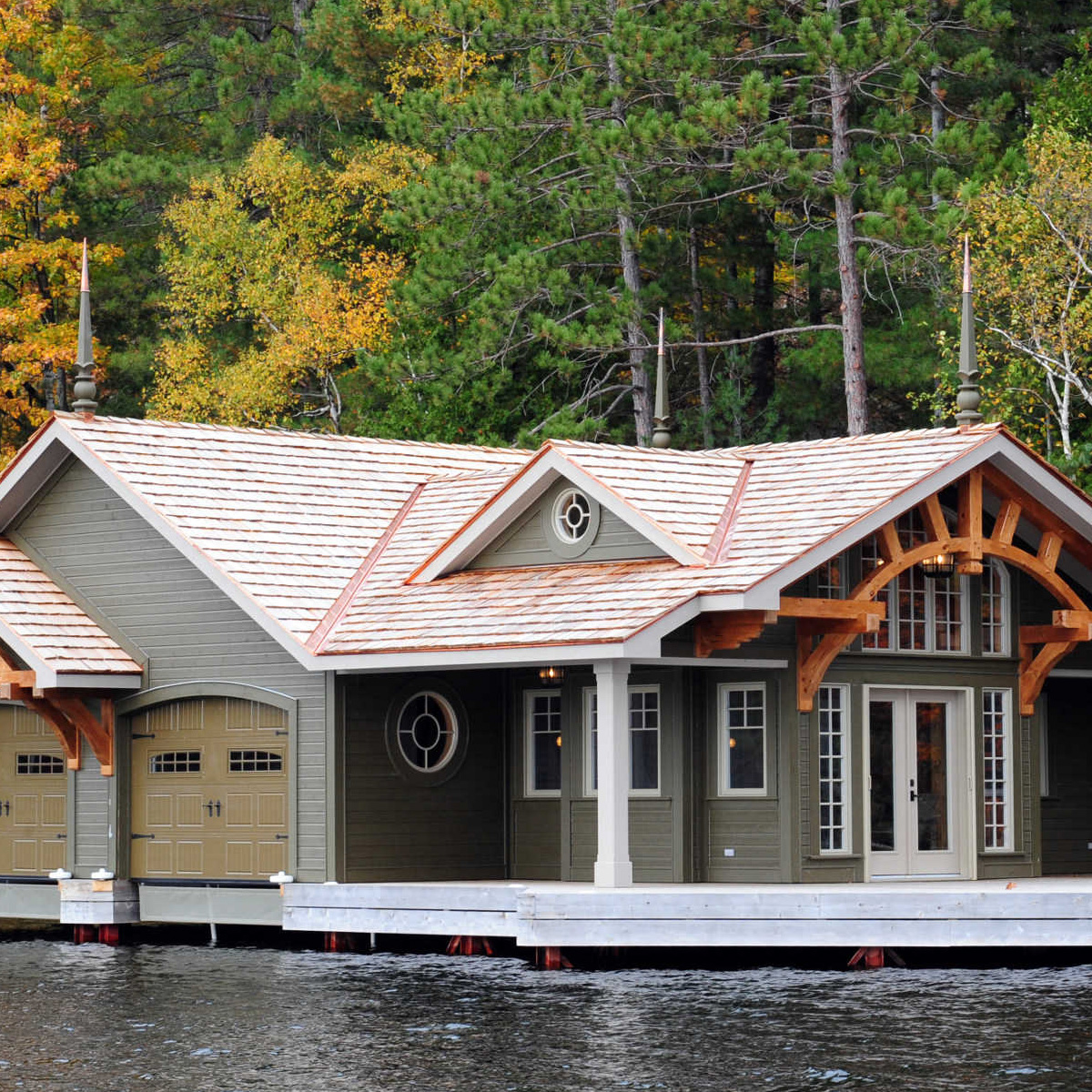 Muskoka Boathouse construction